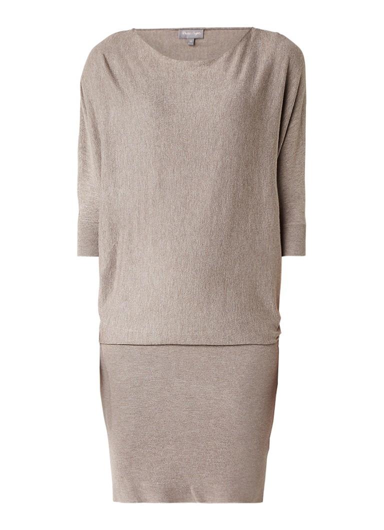Phase Eight Becca trui-jurk met vleermuismouwen lichtbruin