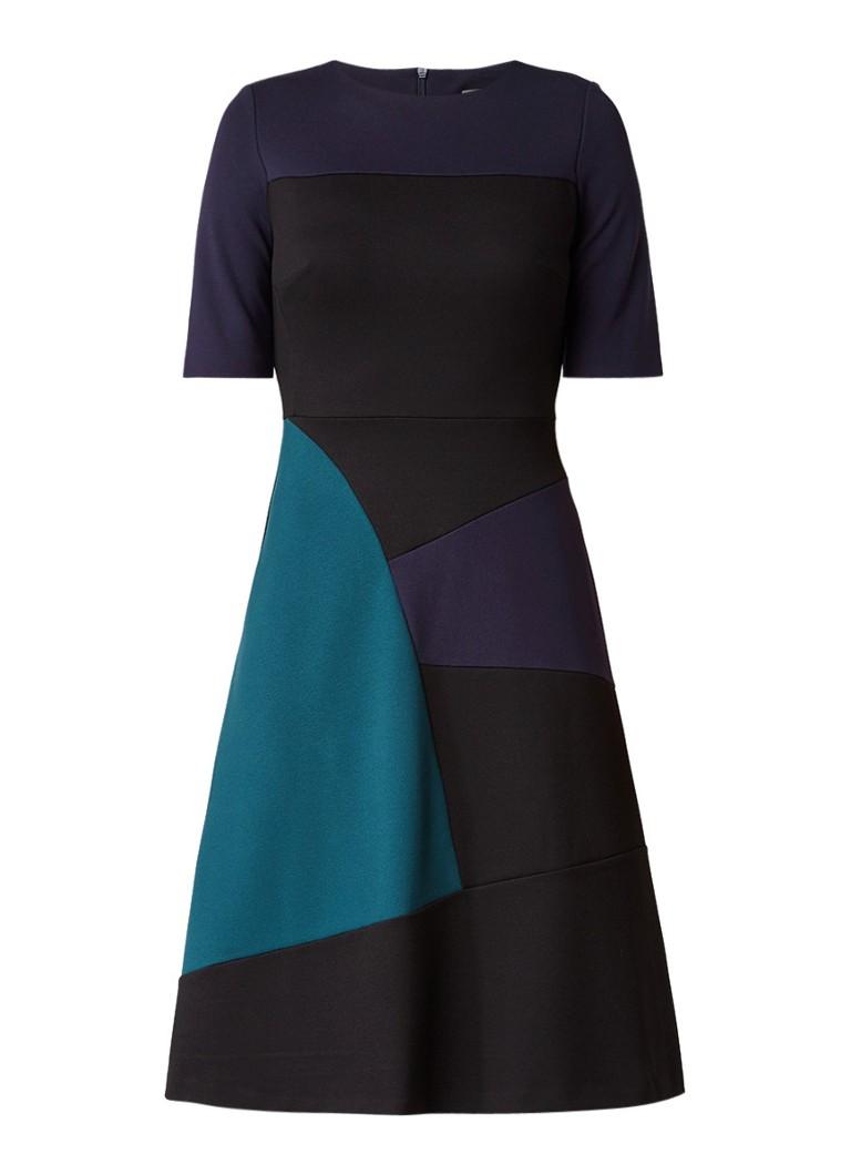 Phase Eight Rosie A-lijn jurk met colour block donkerblauw