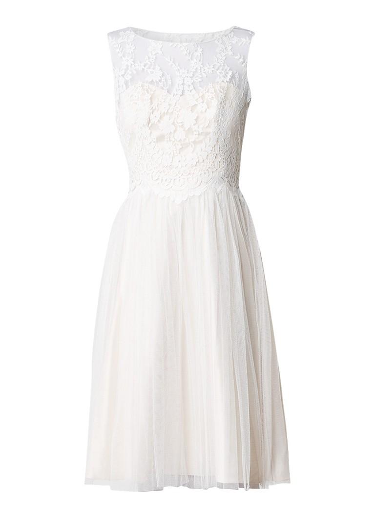 Phase Eight Clarissa trouwjurk met top van kant gebroken wit