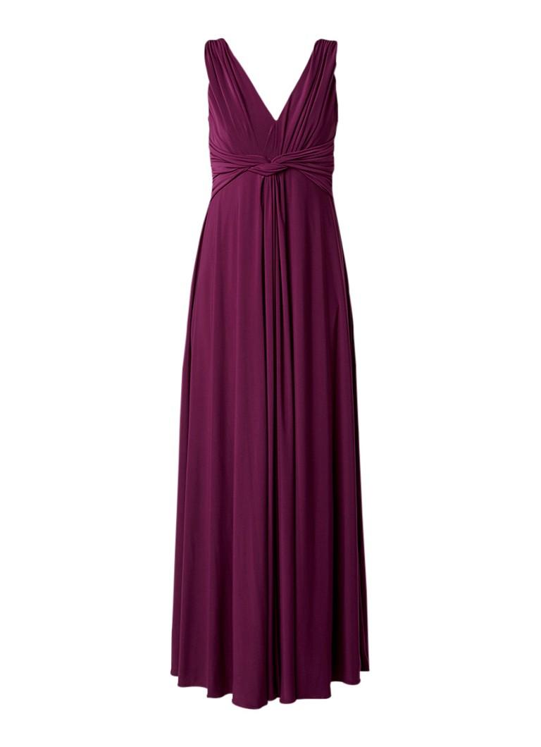 Phase Eight Arabella maxi-jurk met knoopdetail aubergine