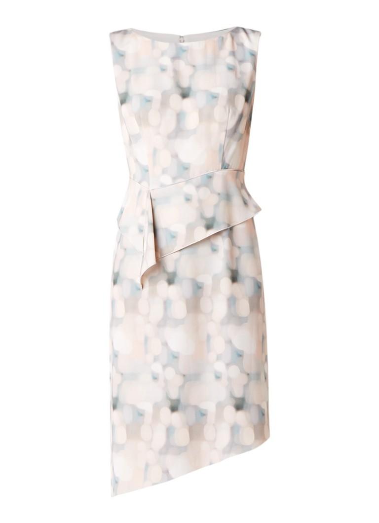 Phase Eight Azzura asymmetrische jurk met dessin lichtroze