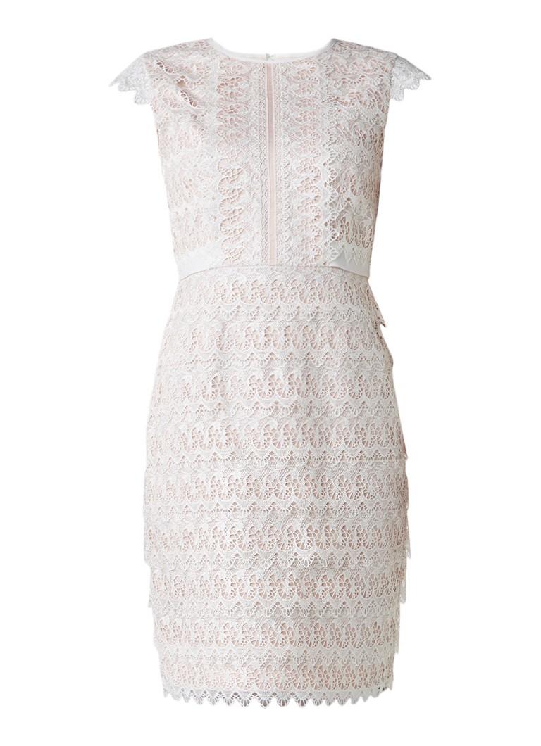 Phase Eight Ally jurk van kant lichtroze