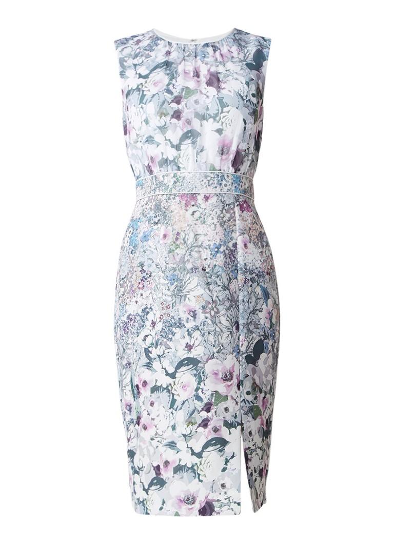 Phase Eight Evora midi-jurk met bloemendessin lichtblauw