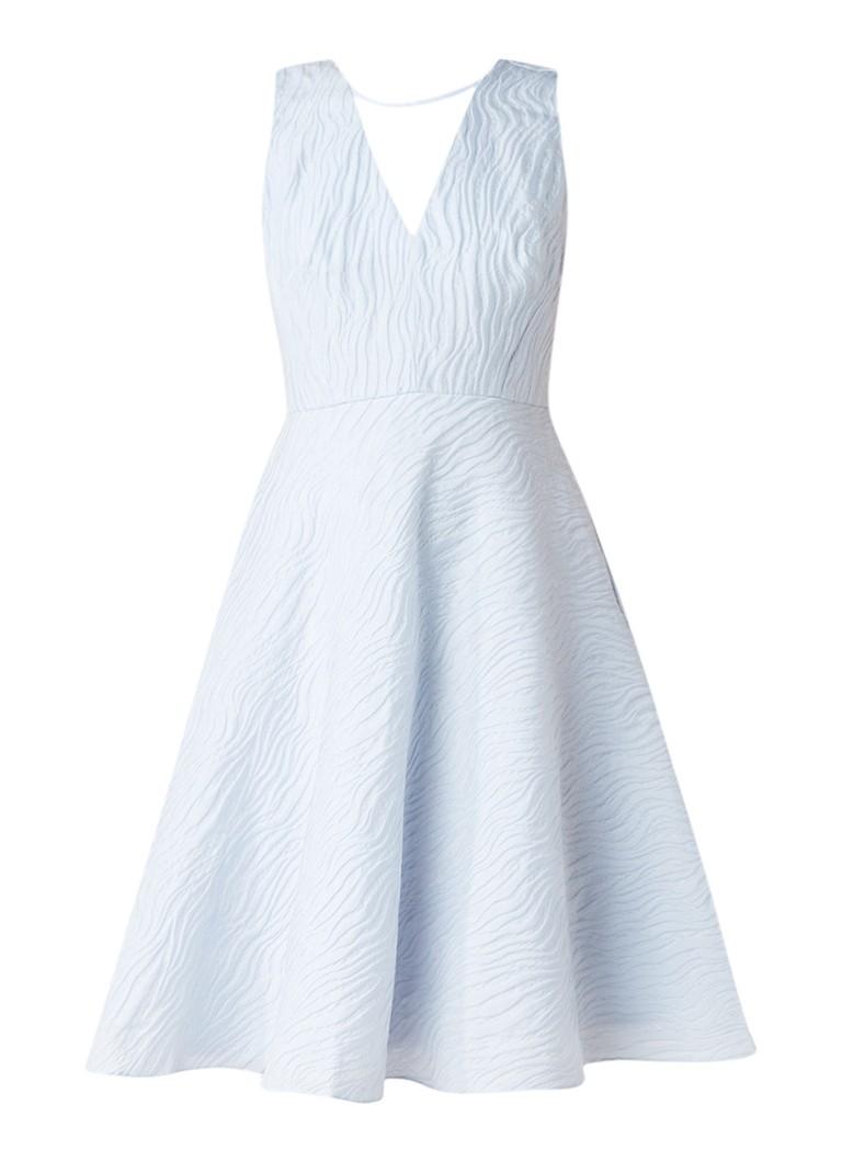 Phase Eight Franchesca A-lijn jurk met textuur lichtblauw