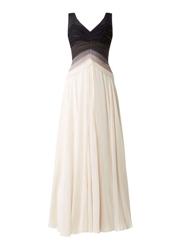 Phase Eight Elfie Ombre chiffon maxi-jurk met kleurverloop gebroken wit