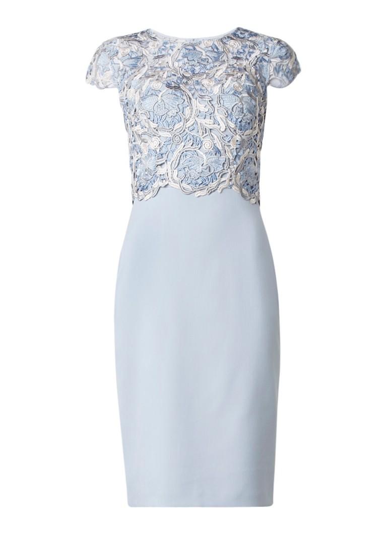 Phase Eight Josephina midi-jurk met top van kant lichtblauw