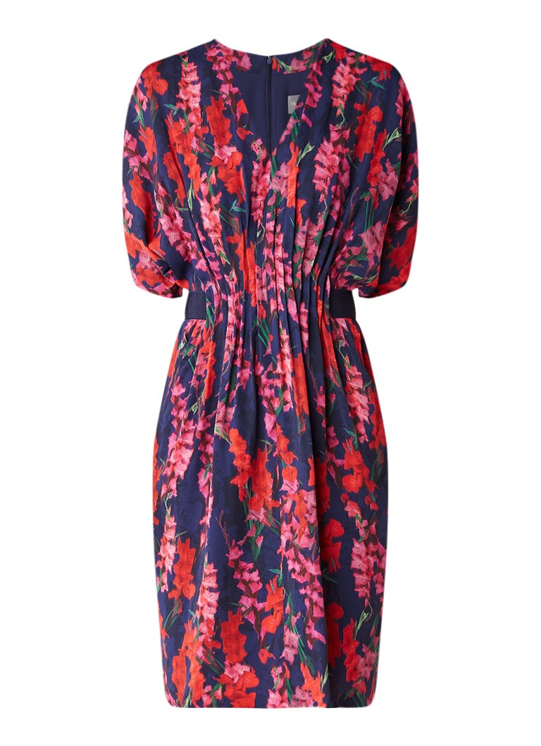 Phase Eight Georgia jurk met smockwerk en elastische band donkerroze