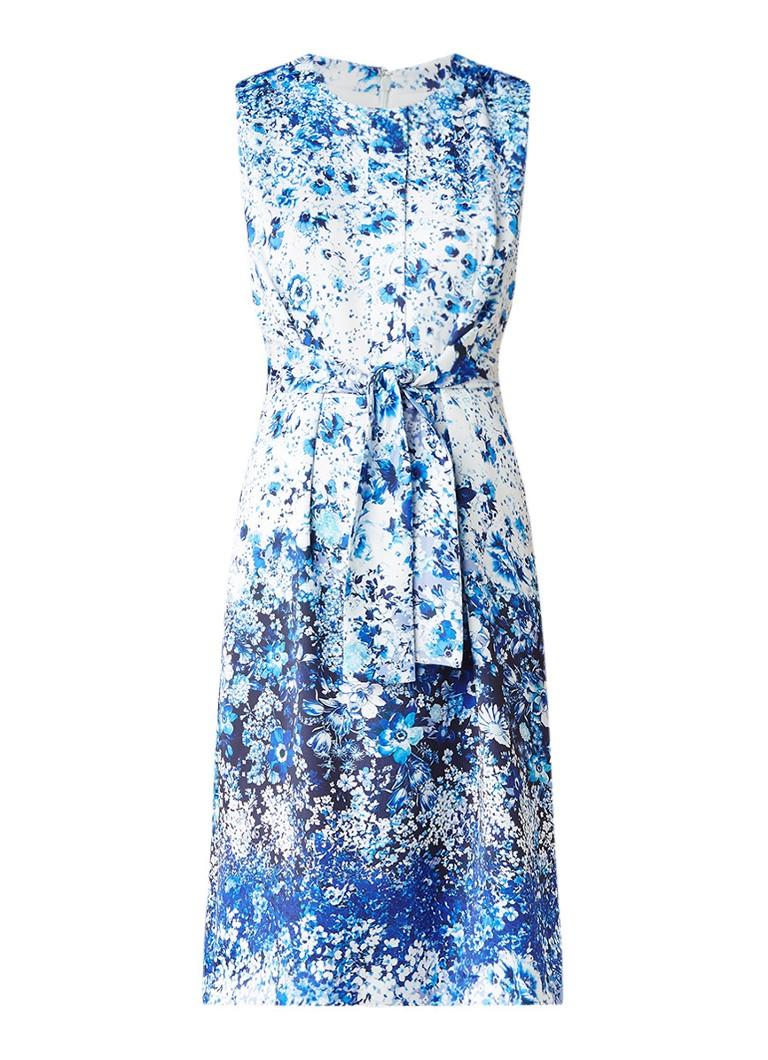 Phase Eight Gaila getailleerde jurk met knoopdetail lichtblauw