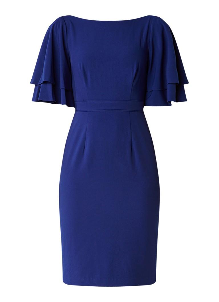 Phase Eight Daley midi-jurk met dubbellaagse mouw en rugdecolleté kobaltblauw