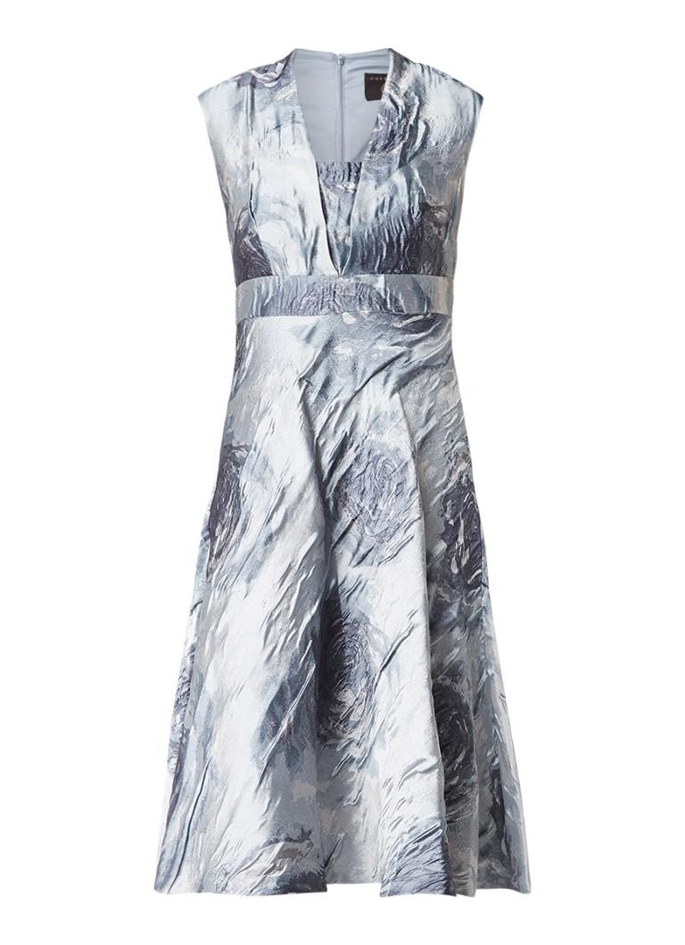 Phase Eight Honey Rose jacquard jurk met metallic finish lavendel