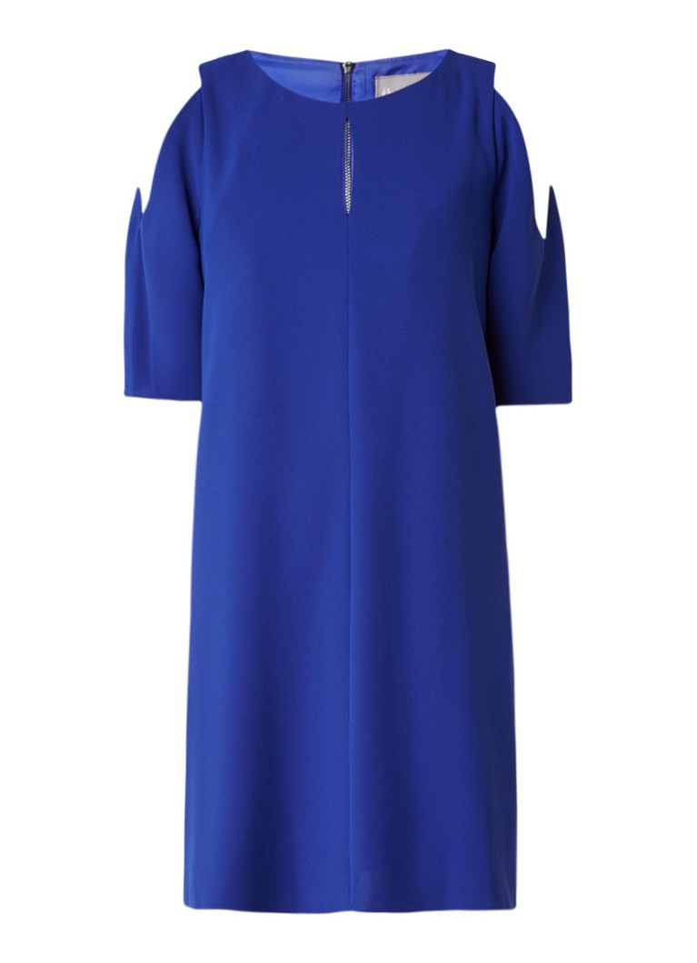 Phase Eight Jilly cold shoulder jurk met ritssluiting kobaltblauw