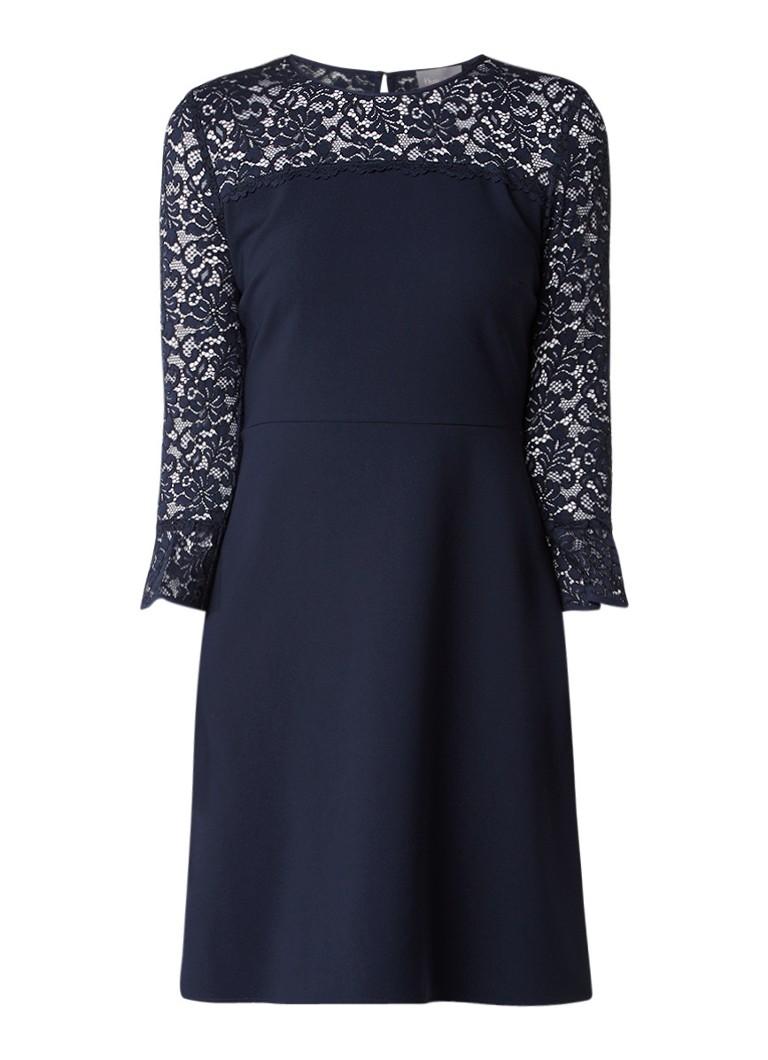 Phase Eight Esme A-lijn jurk met bovenzijde van kant donkerblauw