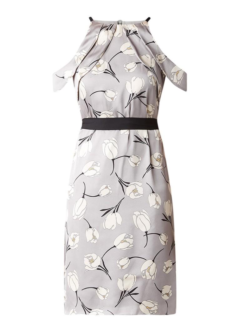 Phase Eight Tallulah jurk met tulpenprint grijs