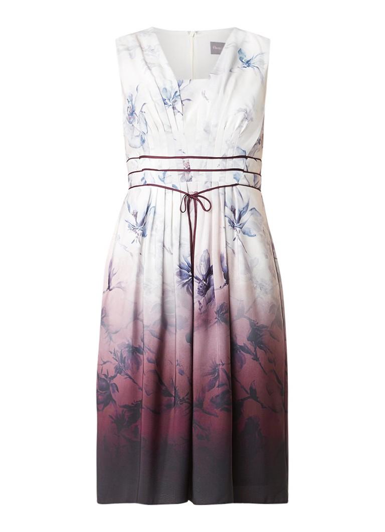 Phase Eight Katalina jurk met strikdetail en bloemendessin paars