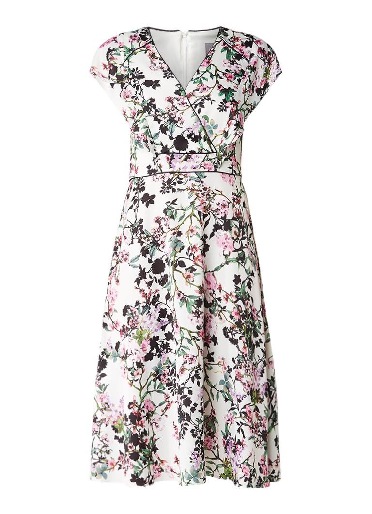 Phase Eight Jody A-lijn jurk met bloemendessin lichtroze