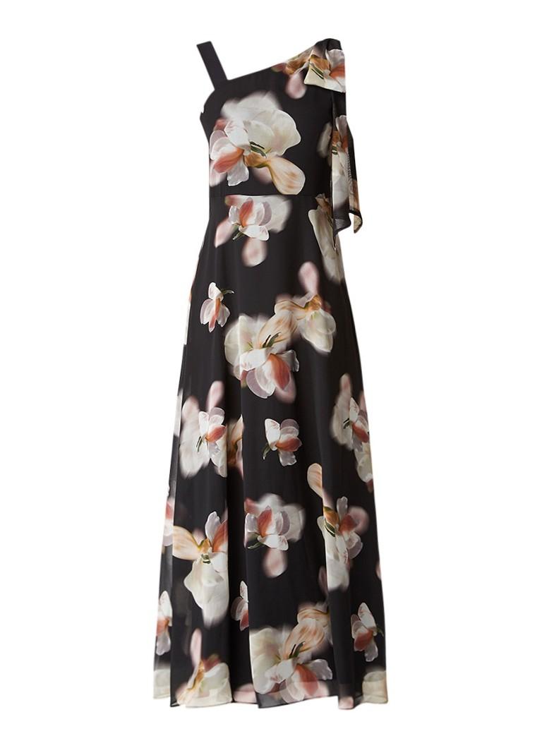 Phase Eight Leonora asymmetrische maxi-jurk zwart