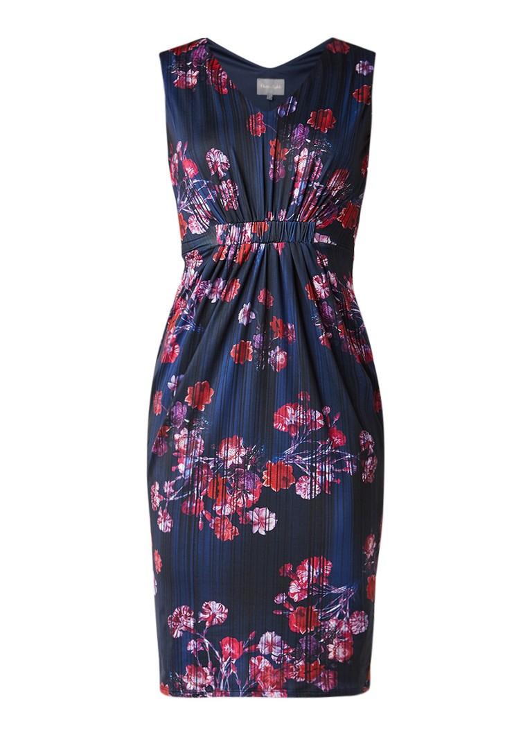 Phase Eight Jovie midi-jurk met bloemendessin en plooidetails donkerblauw
