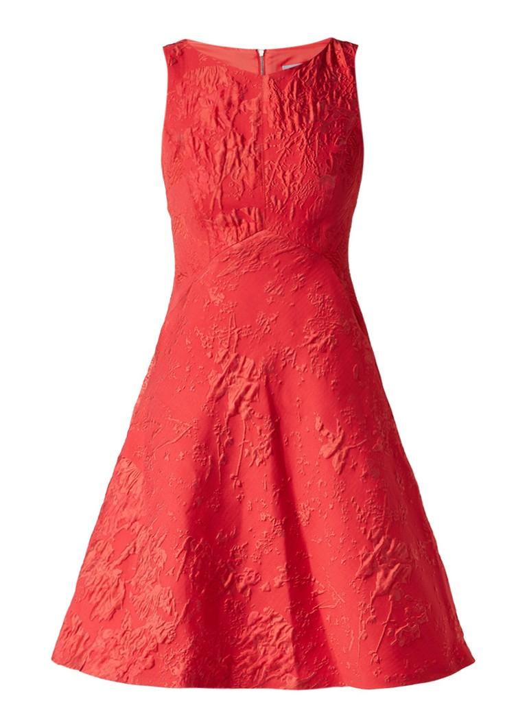 Phase Eight Gertie A-lijn jurk met jacquarddessin rood
