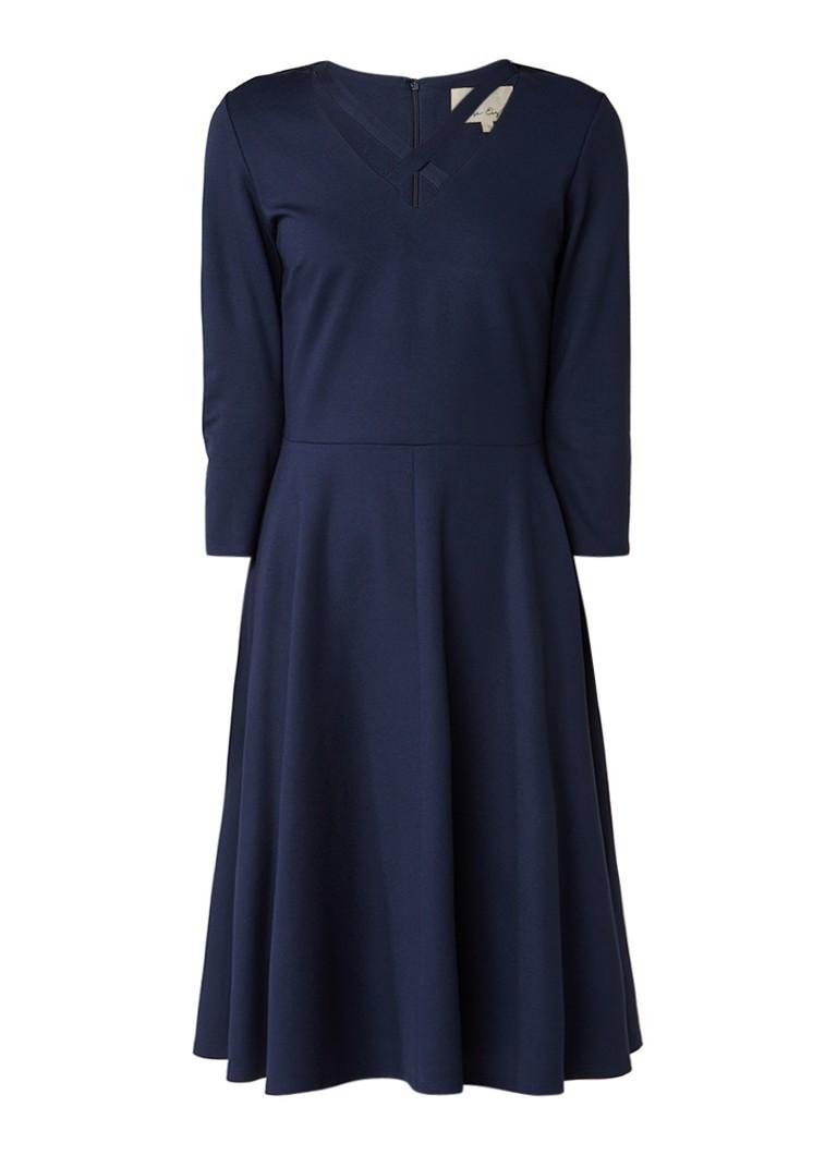 Phase Eight A-lijn jurk met gekruiste bandjes donkerblauw