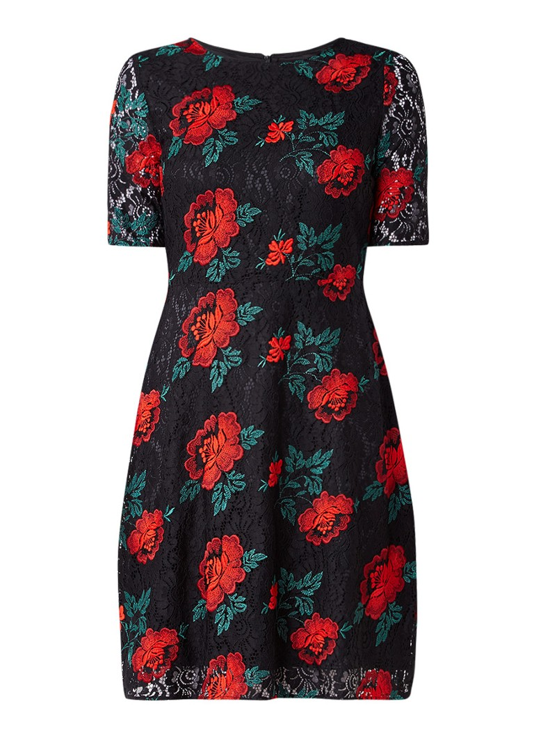Phase Eight Rose jurk van gebloemd kant zwart