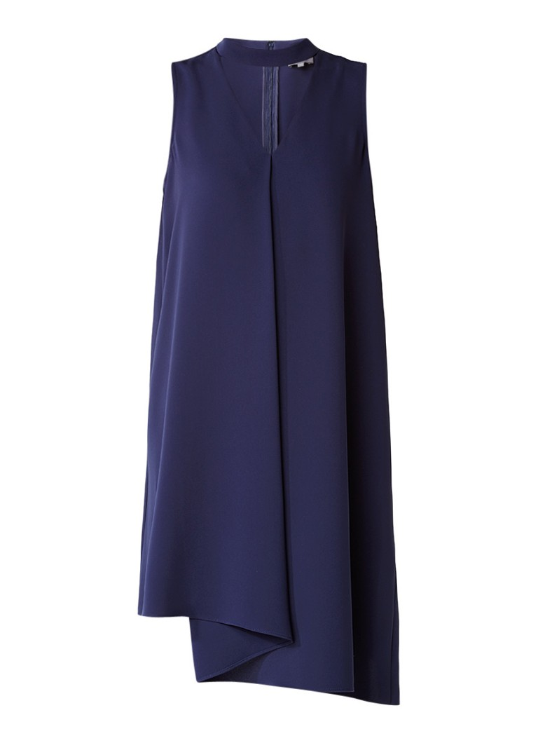 Phase Eight Taylor asymmetrische midi-jurk met choker-detail donkerblauw