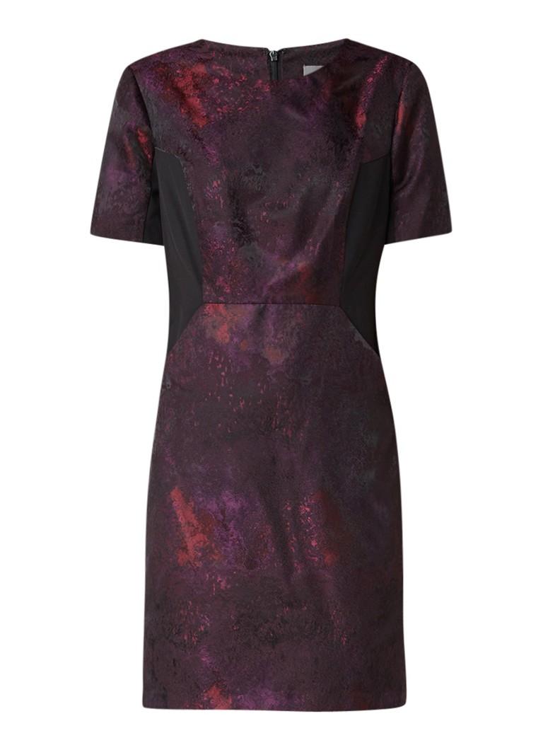 Phase Eight Rhona midi-jurk van satijn met structuur paars