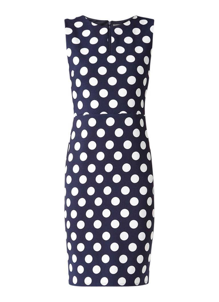 Phase Eight Katlyn jurk met stippendessin donkerblauw
