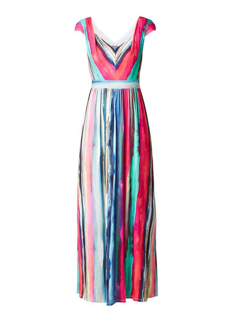 Phase Eight Nia maxi-jurk met streepdessin multicolor
