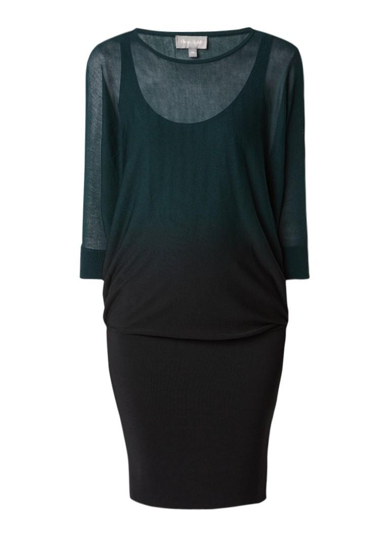 Phase Eight Becca jurk met vleermuismouw en dip dye donkergroen