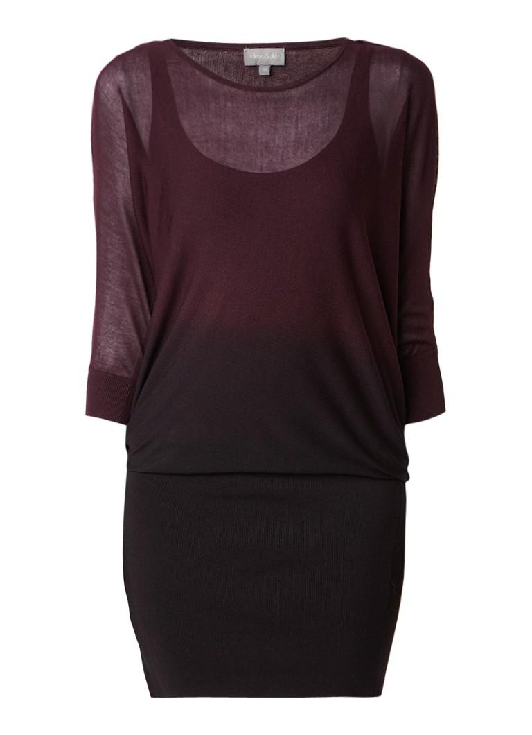 Phase Eight Becca fijngebreide jurk met kleurverloop aubergine