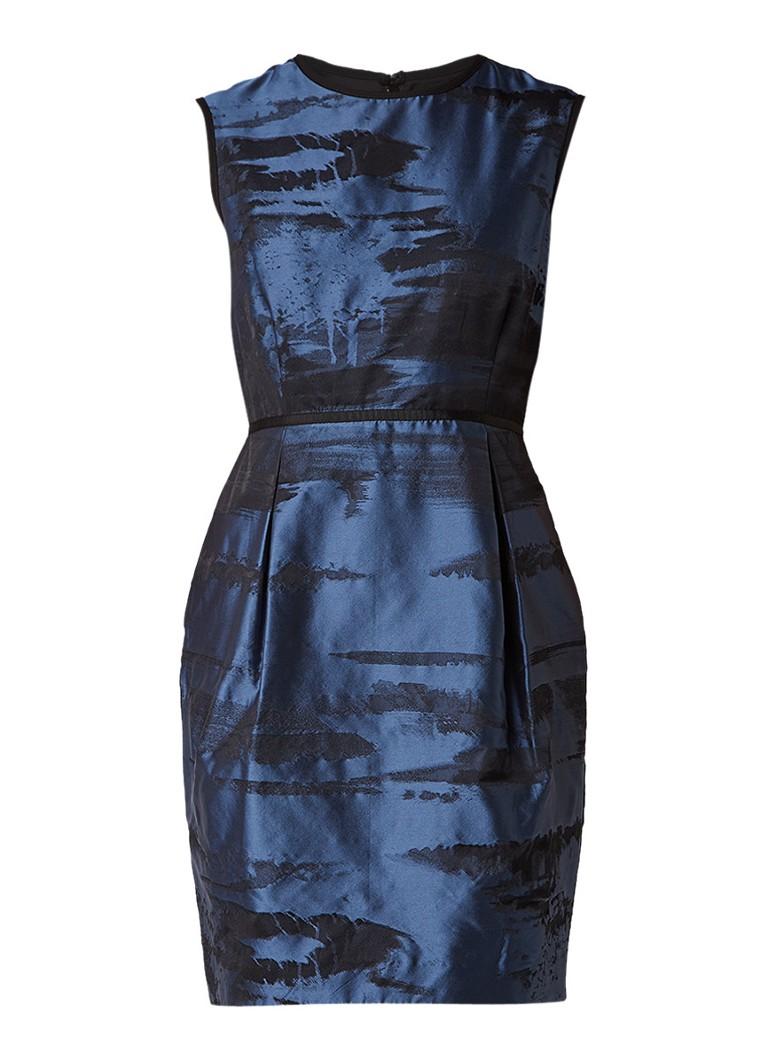 Phase Eight Naya A-lijn jurk met jacquarddessin donkerblauw