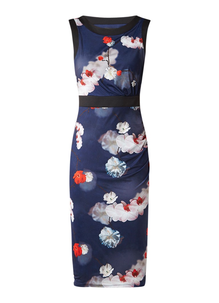 Phase Eight Sakura jurk met bloemendessin blauw