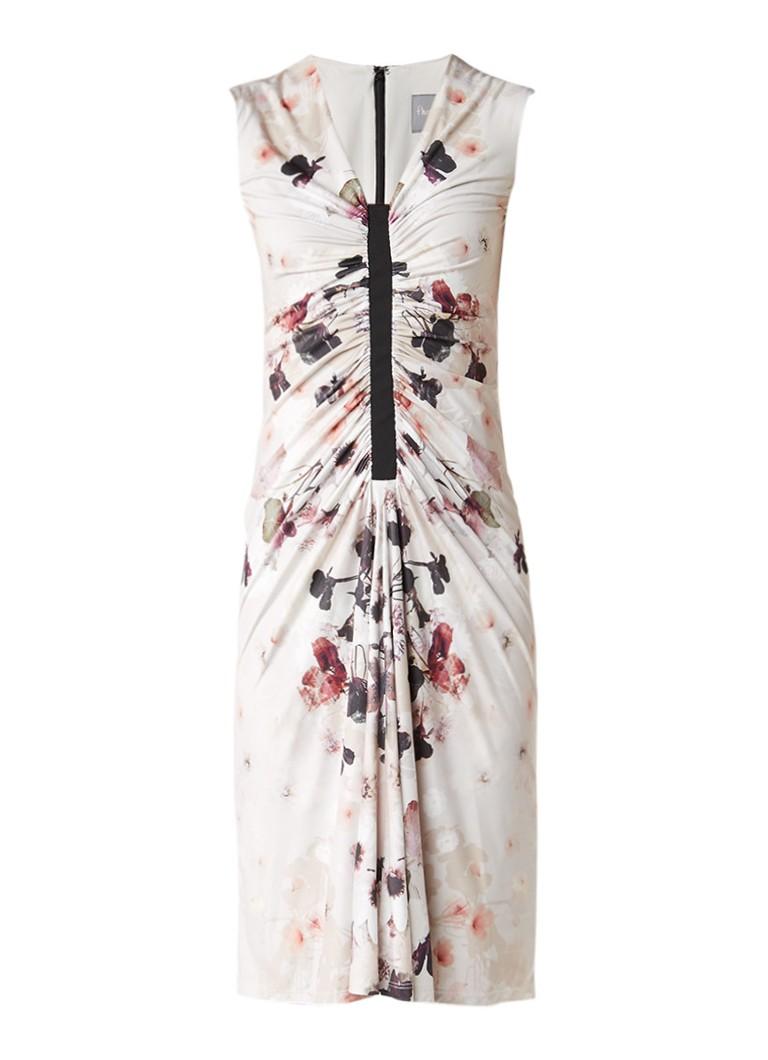 Phase Eight Floris Jackie jurk met plooien en bloemendessin creme