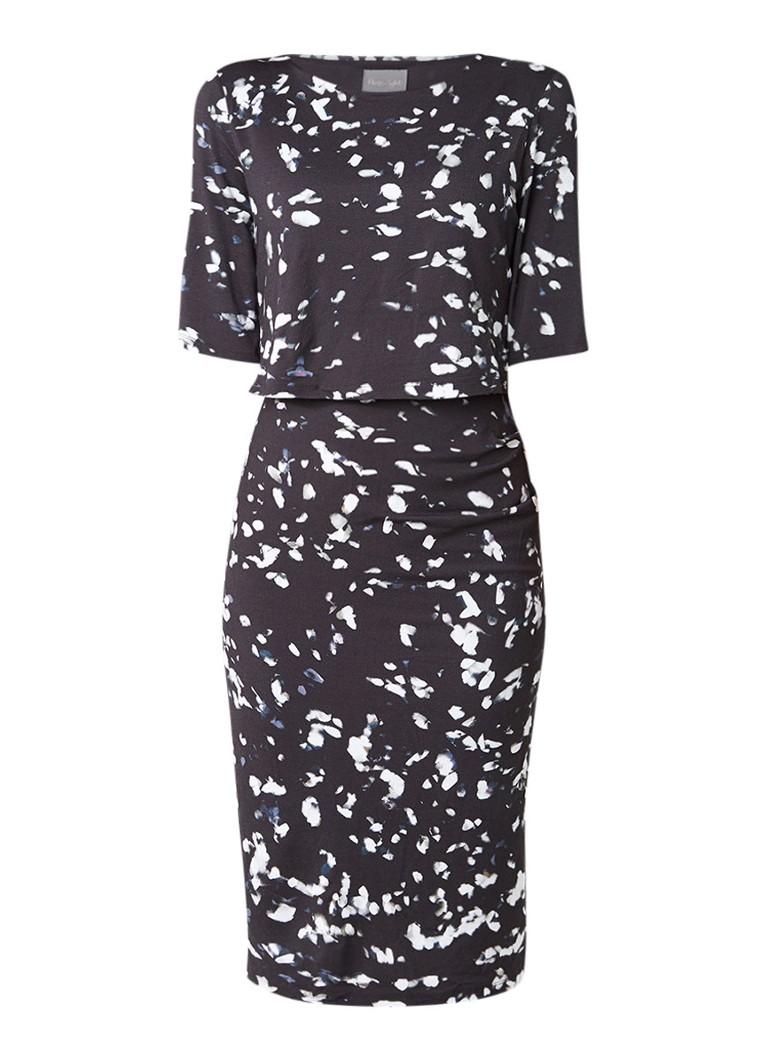 Phase Eight Jago jersey jurk met dessin zwart