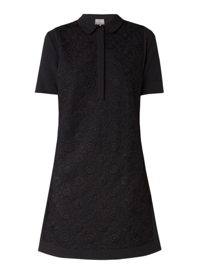 Phase Eight Leoni blousejurk met korte mouw en broderie zwart