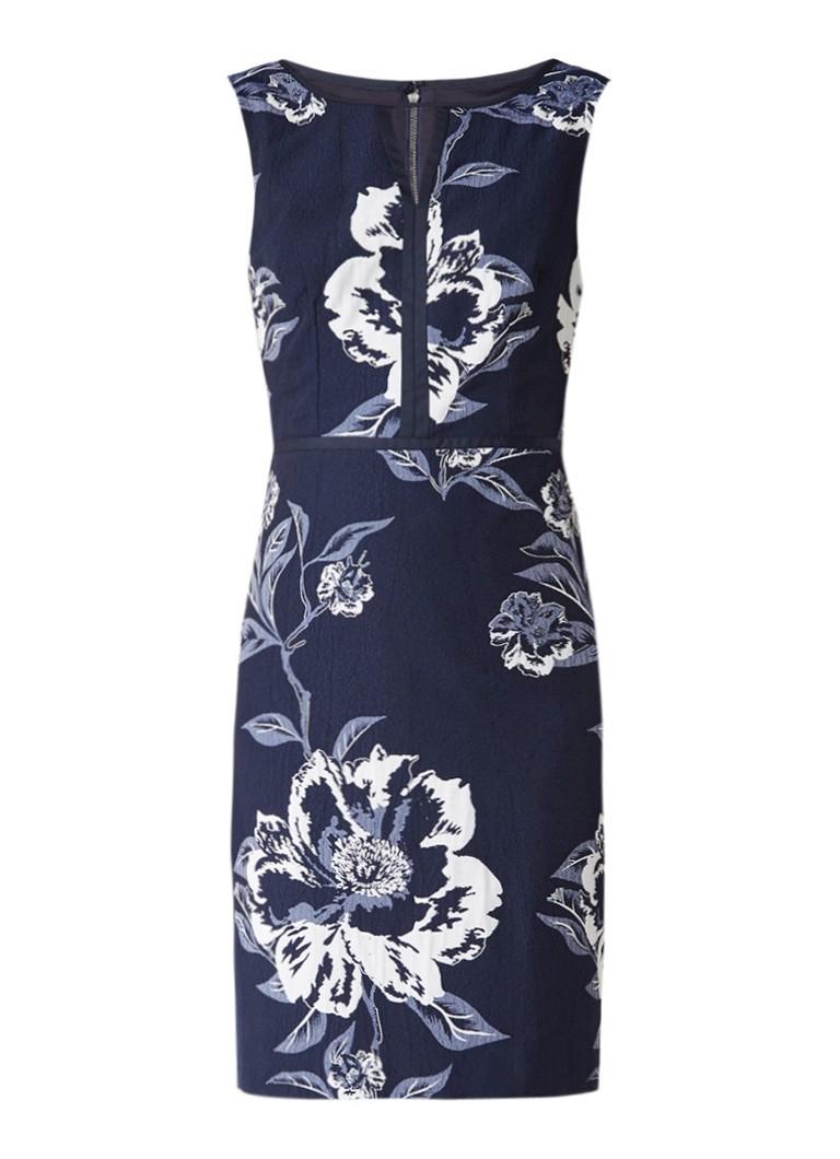 Phase Eight Magnolia jurk met bloemendessin donkerblauw
