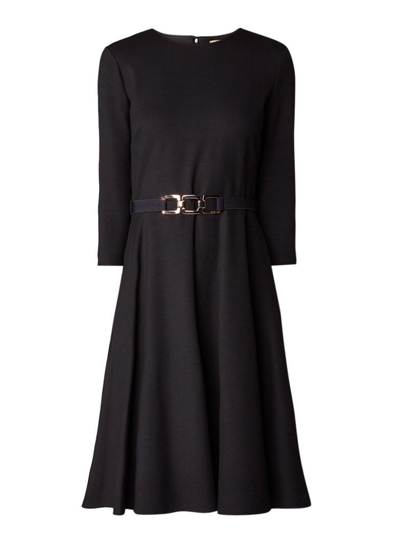Phase Eight A-lijn jurk van jersey met ceintuur zwart