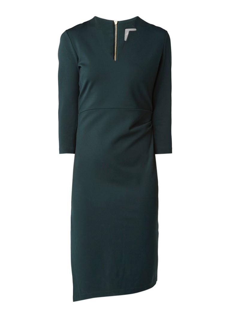 Phase Eight Roisin jurk met halflange mouw en plooidetail donkergroen