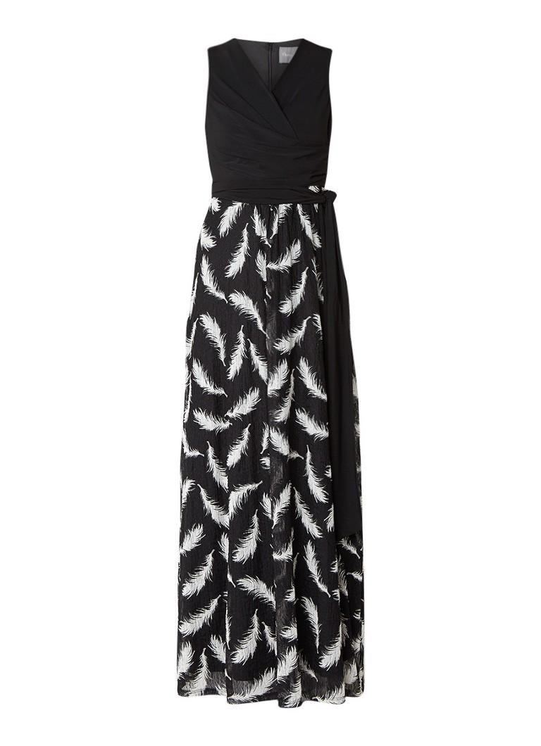 Phase Eight Domenika maxi-jurk met draperie en kant zwart