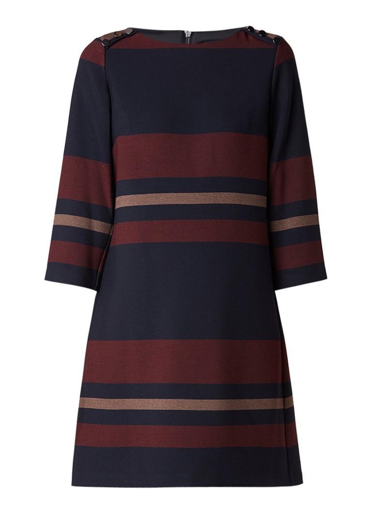 Phase Eight Sophie midi-jurk met streepdessin donkerblauw
