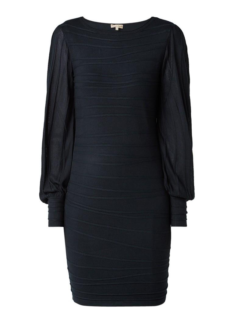 Phase Eight Benita bodycon jurk met semi-transparante mouwen donkergroen