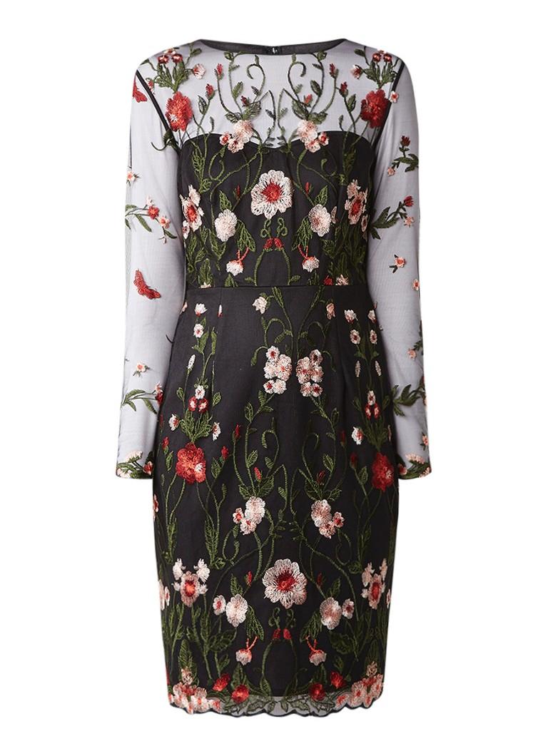 Phase Eight Miriam jurk van kant met bloemenborduursels multicolor