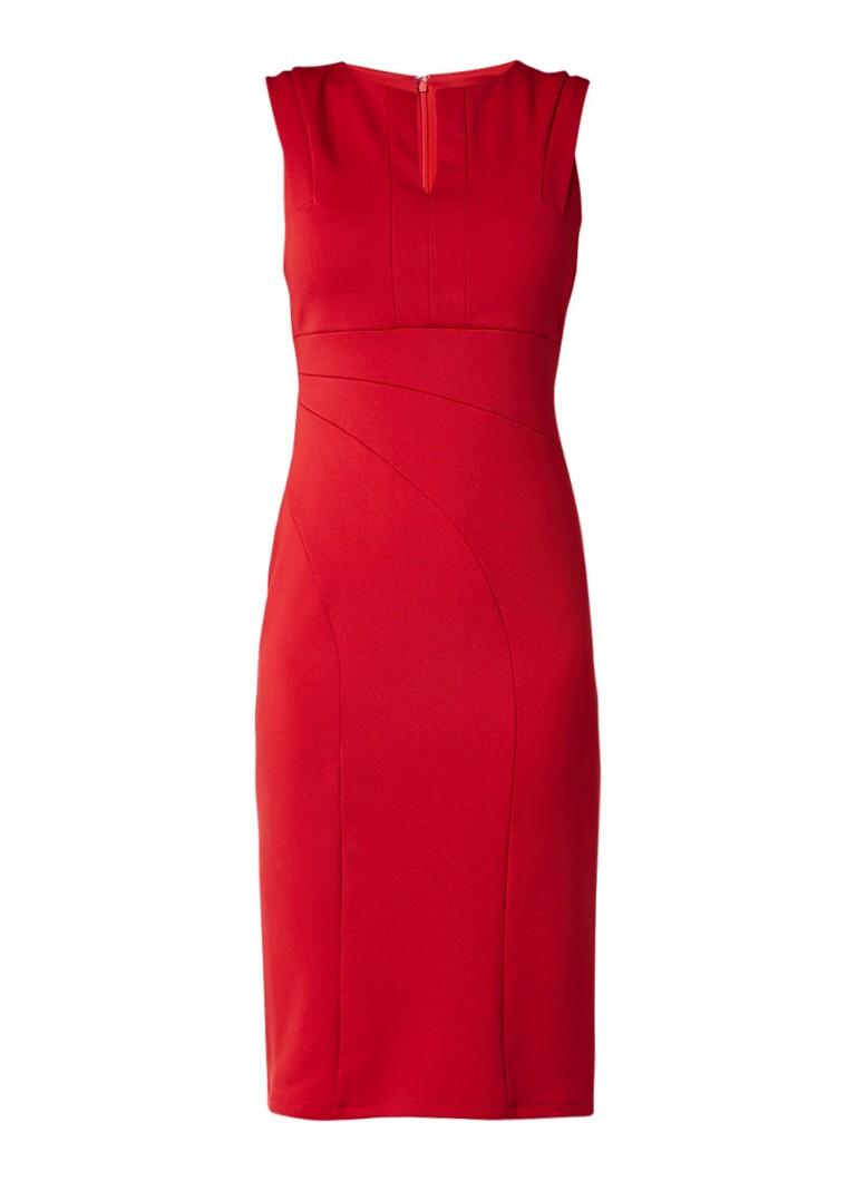 Phase Eight Naomi bodycon jurk met deelnaden donkerrood