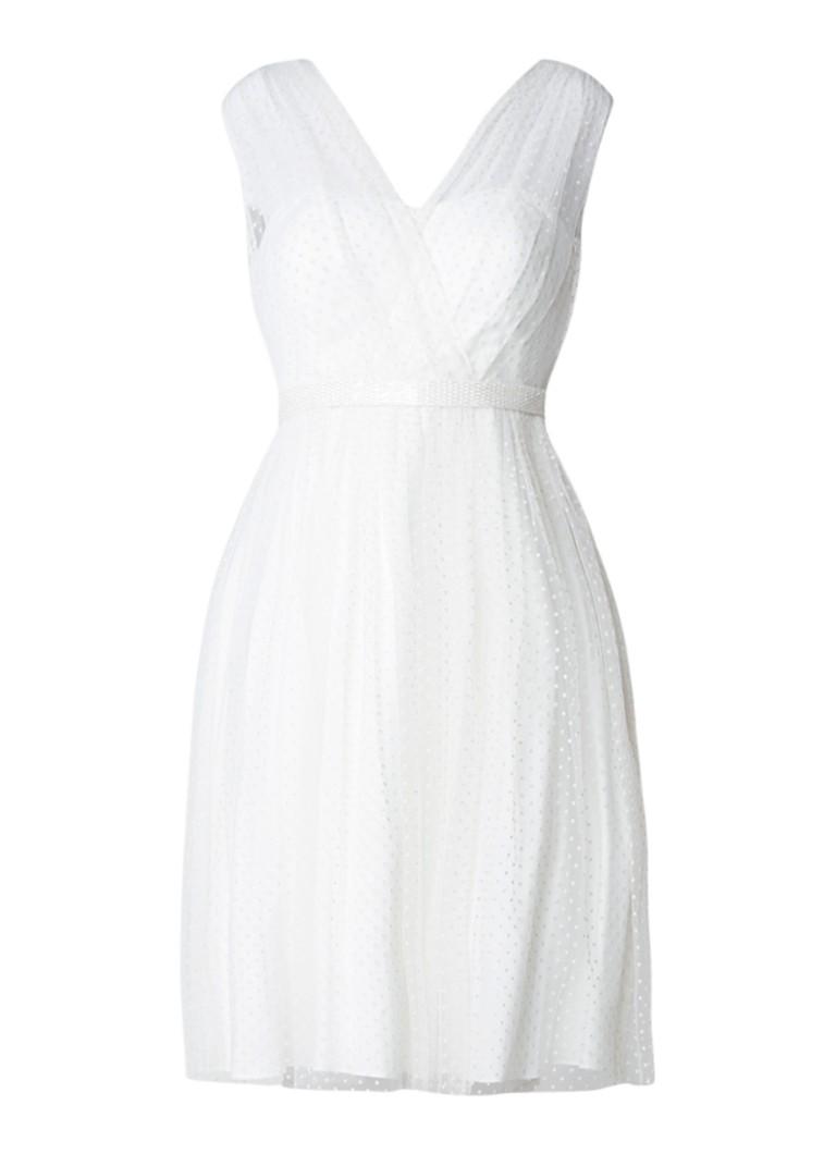 Phase Eight Mae trouwjurk met overlay van tule en strikdetail gebroken wit