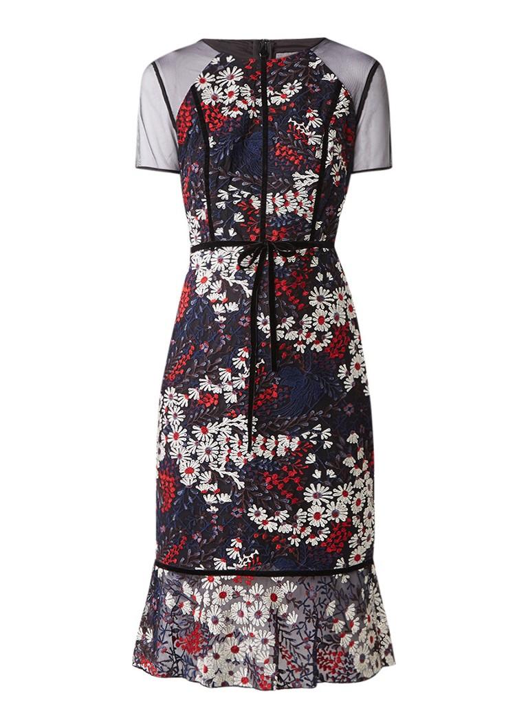 Phase Eight Maylin jurk met bloemenborduursel en volant multicolor