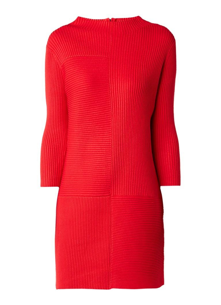 Phase Eight Francesca ribgebreide jurk met ritssluiting rood