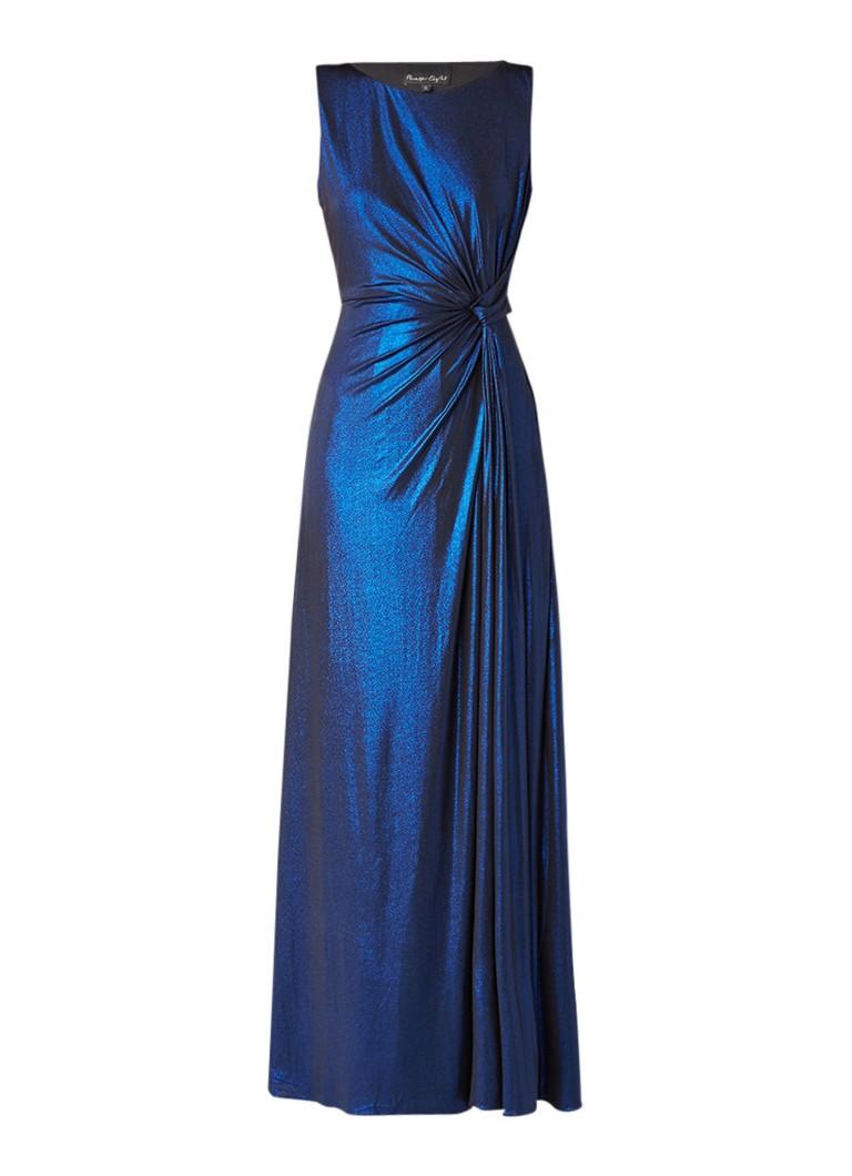 Phase Eight Caro galajurk met draperie en glitter finish kobaltblauw