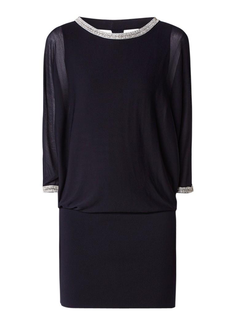 Phase Eight Becca jurk met vleermuismouw met strass donkerblauw