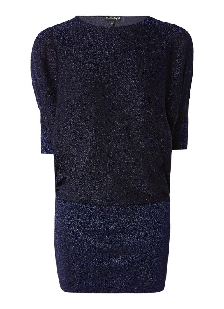 Phase Eight Becca jurk met vleermuismouw en glitterfinish donkerblauw