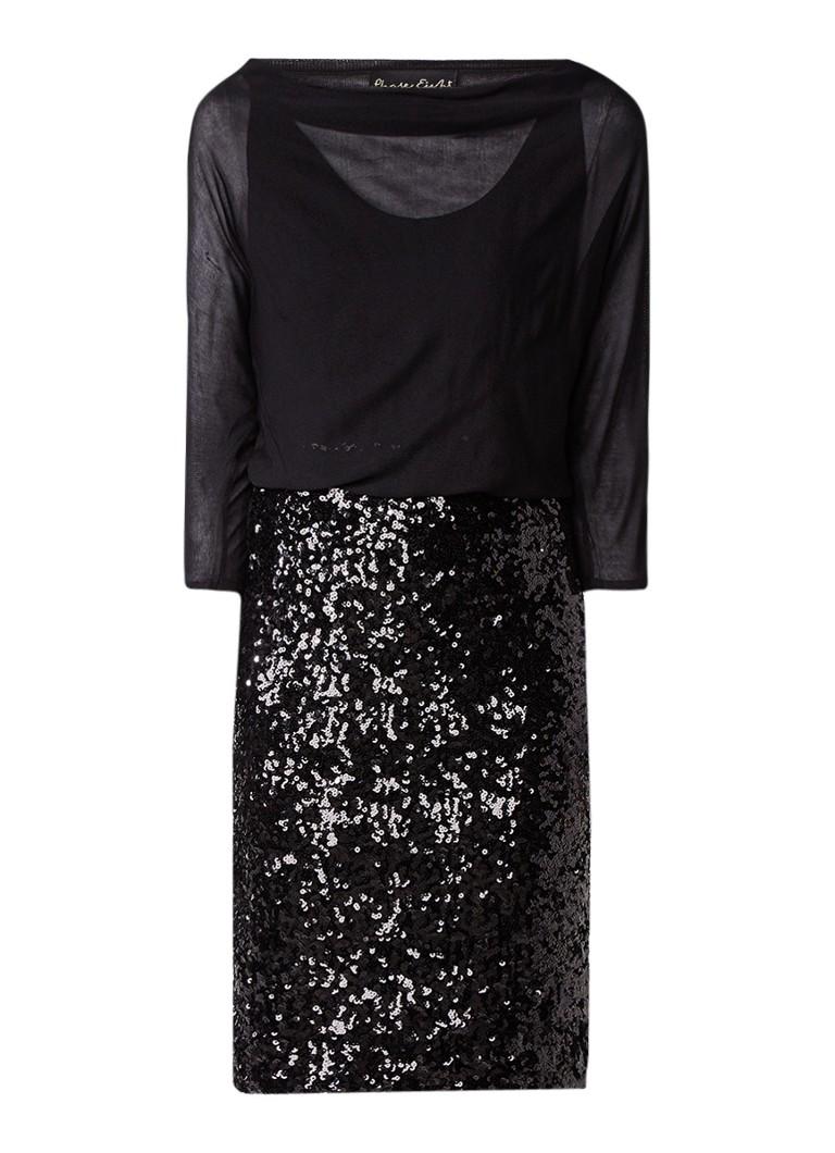 Phase Eight Adele tuniekjurk met rok van pailletten zwart